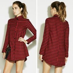 """Hiro dress, $168 at <a href=""""http://thereformation.com/HIRO-DRESS-PLAID4.html"""">Reformation</a>"""