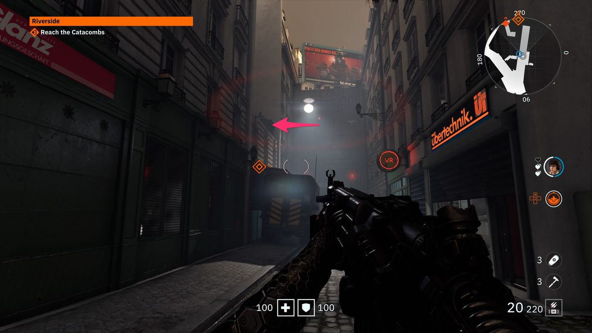 Wolfenstein: Youngblood 3D Glasses 5 collectible Zeppelin Balloon Cart