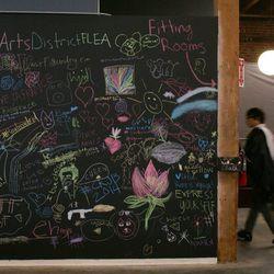 The community chalk wall.