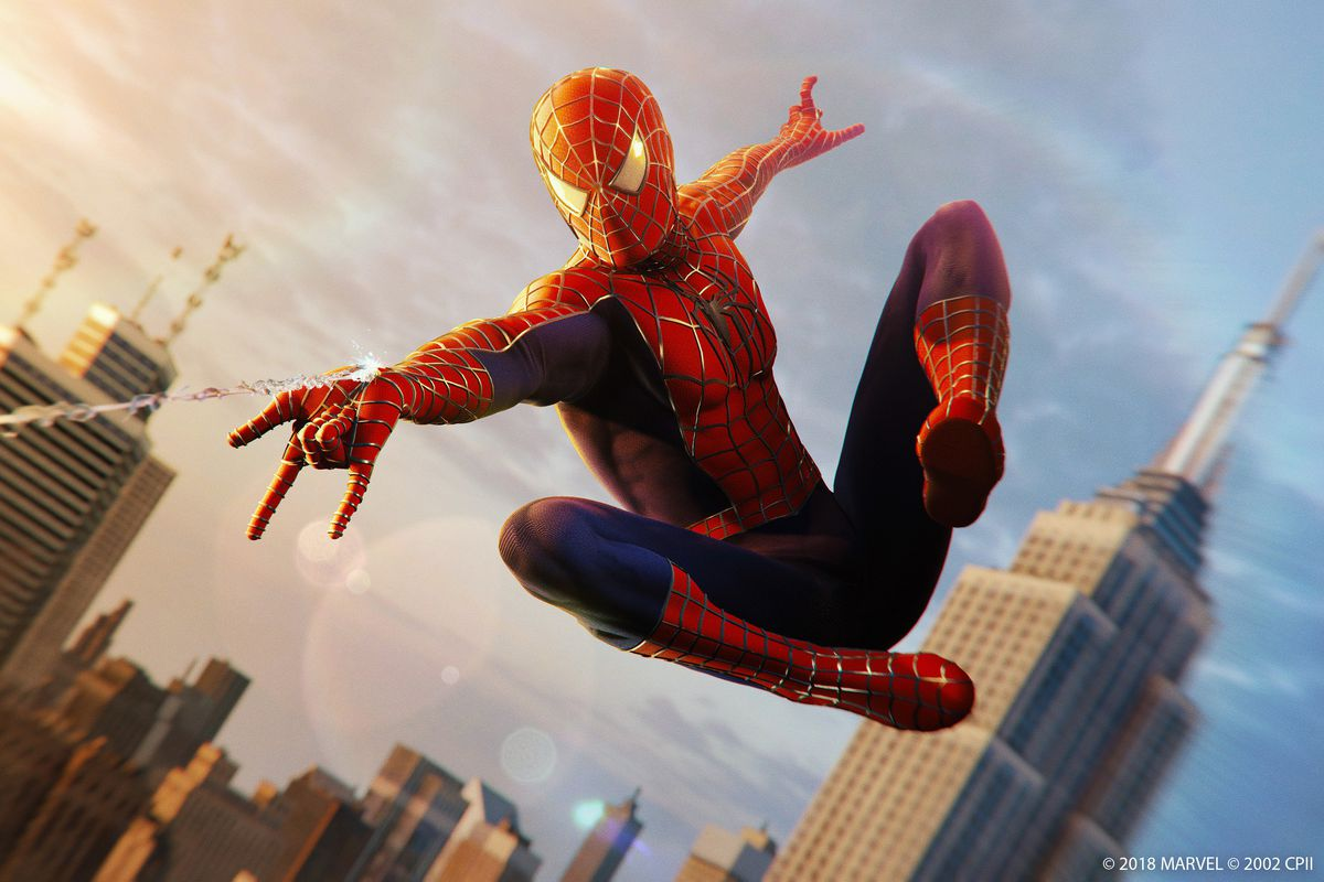 Image result for spider-man tobey maguire ps4