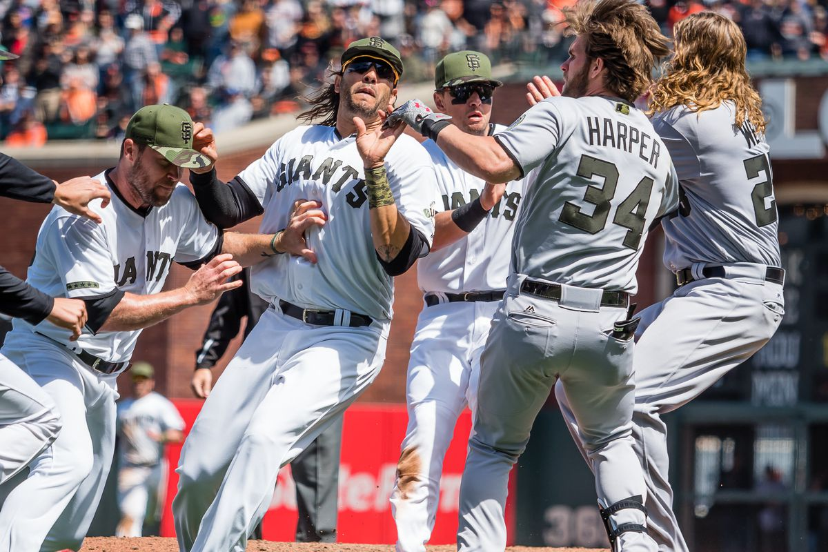 reputable site f3d04 3671f The 5 best photos from the Bryce Harper-Hunter Strickland ...