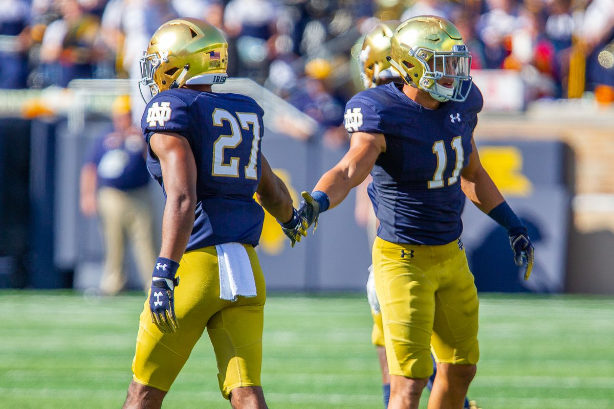 Julian Love Alohi Gilman Mike Miller One Foot Down The Depth Chart Changed Quite A Bit For Notre Dame