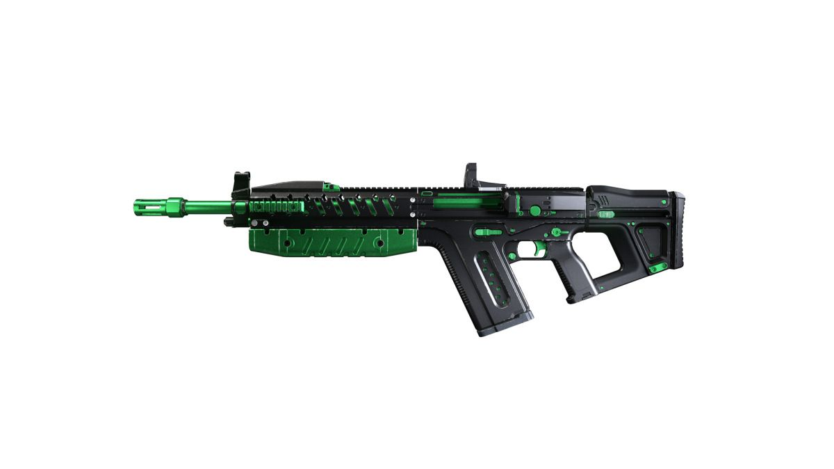 Green and black Monster Energy weapon skins on Halo Infinite weapons