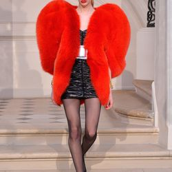 A look from Saint Laurent's fall 2016 runway show.