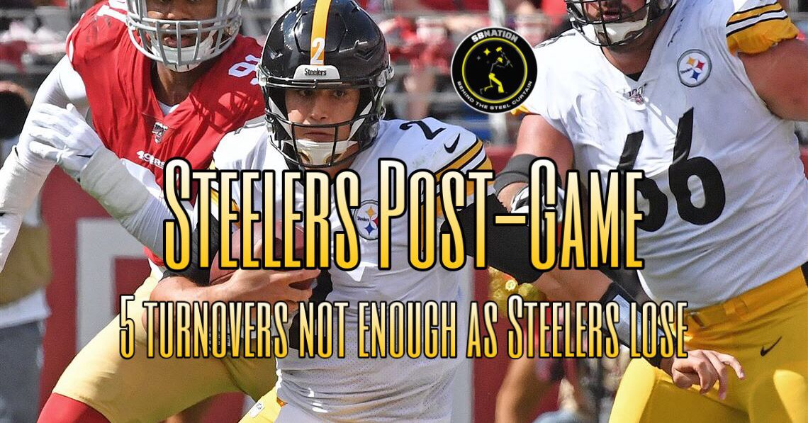 Podcast: 5 turnovers not enough as Steelers lose to 49ers