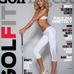 "Paulina Gretzky flaunts YOGiiZA gear in Golf Digest's raciest cover yet. <span class=""credit"">Image Via <a href=""https://www.facebook.com/YOGiiZAunified"">Facebook</a></span>"
