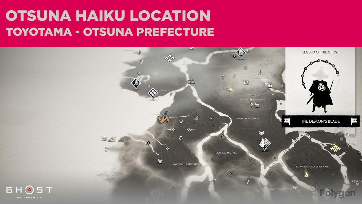 The Otsuna haiku location in Ghost of Tsushima