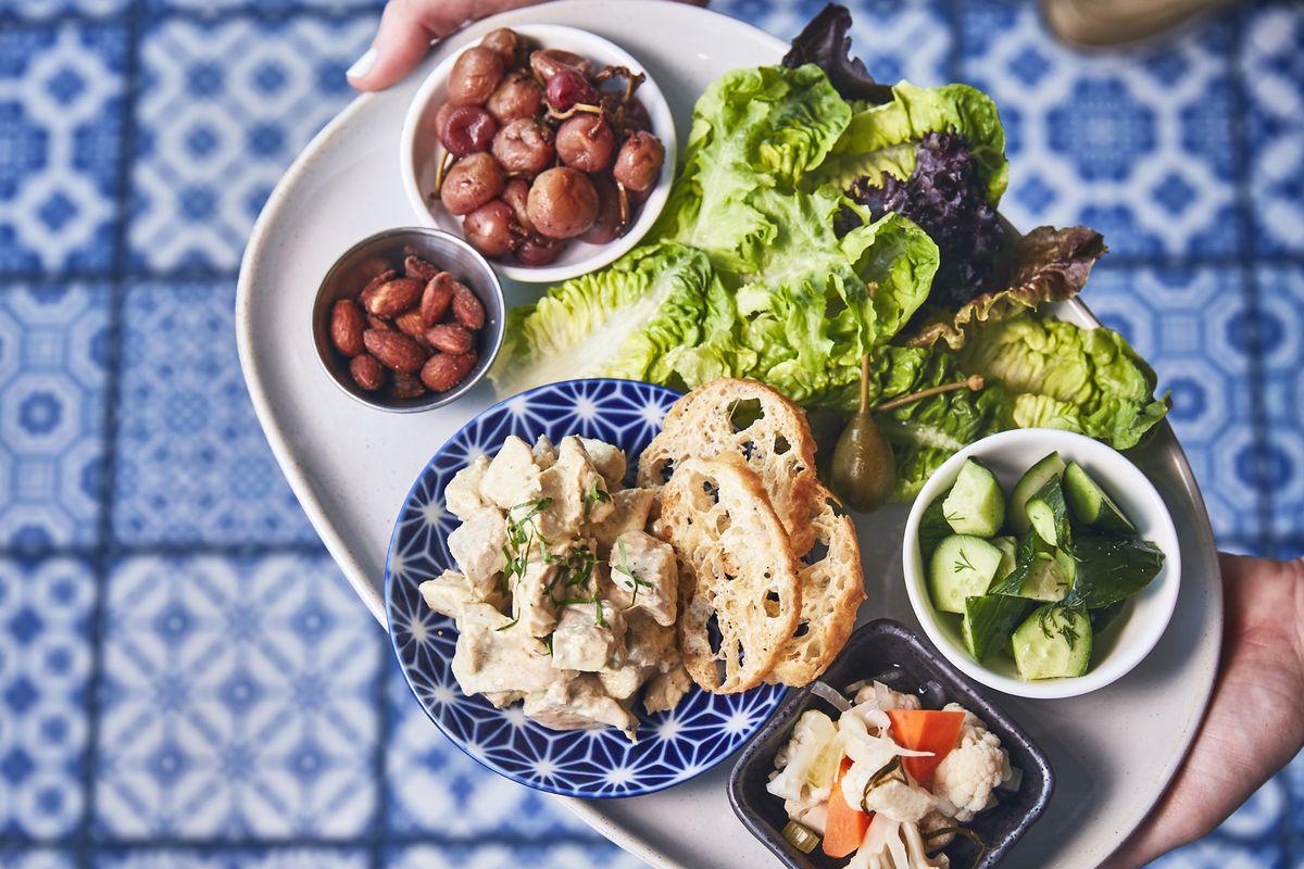 Bento chicken salad, The Gables
