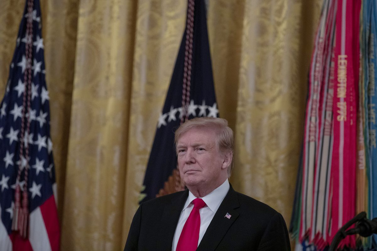 U.S. President Donald Trump at the White House March 27, 2019, in Washington, DC.