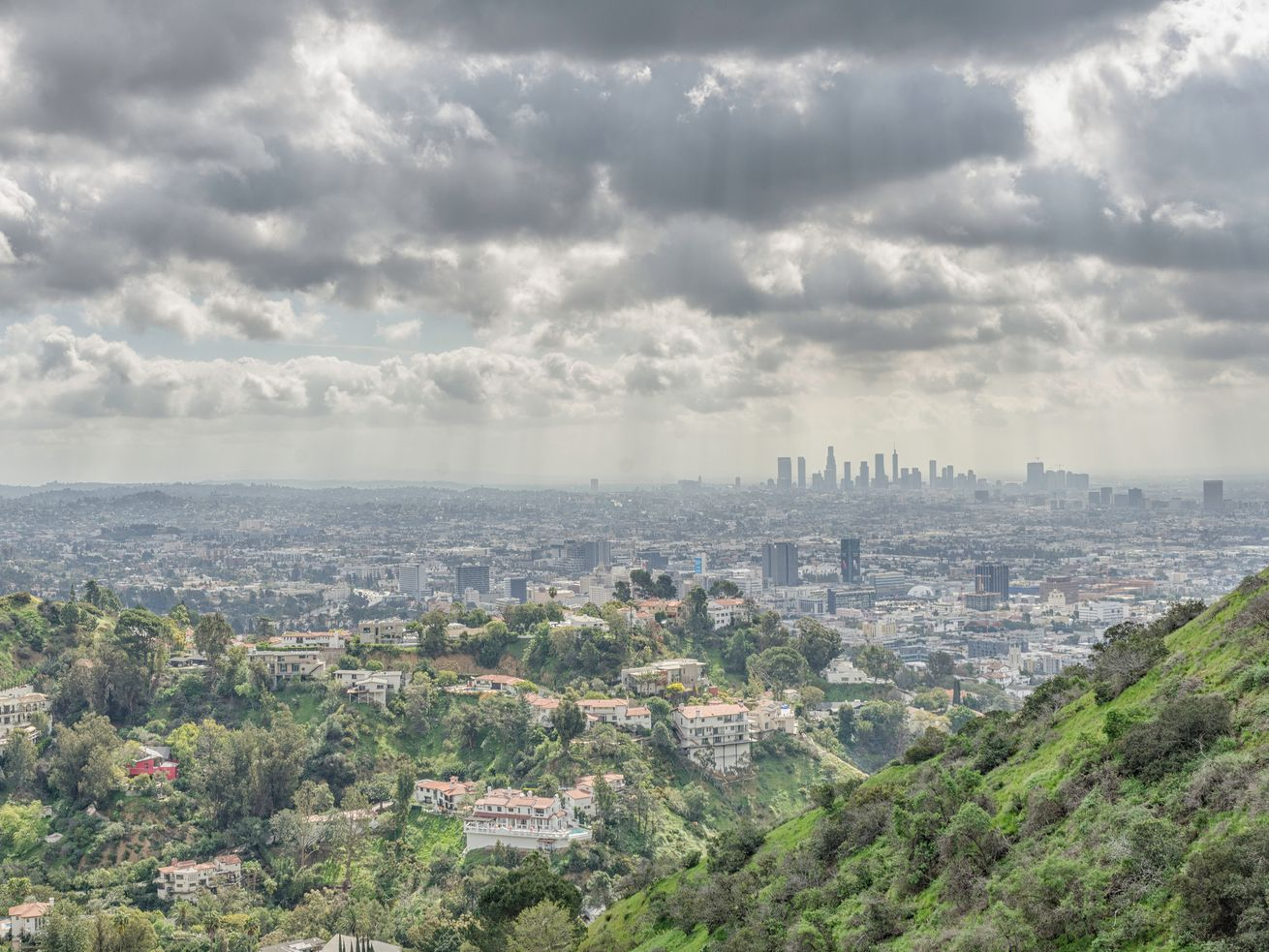 Temperatures in Downtown LA aren't expected to rise above 70 this weekend.