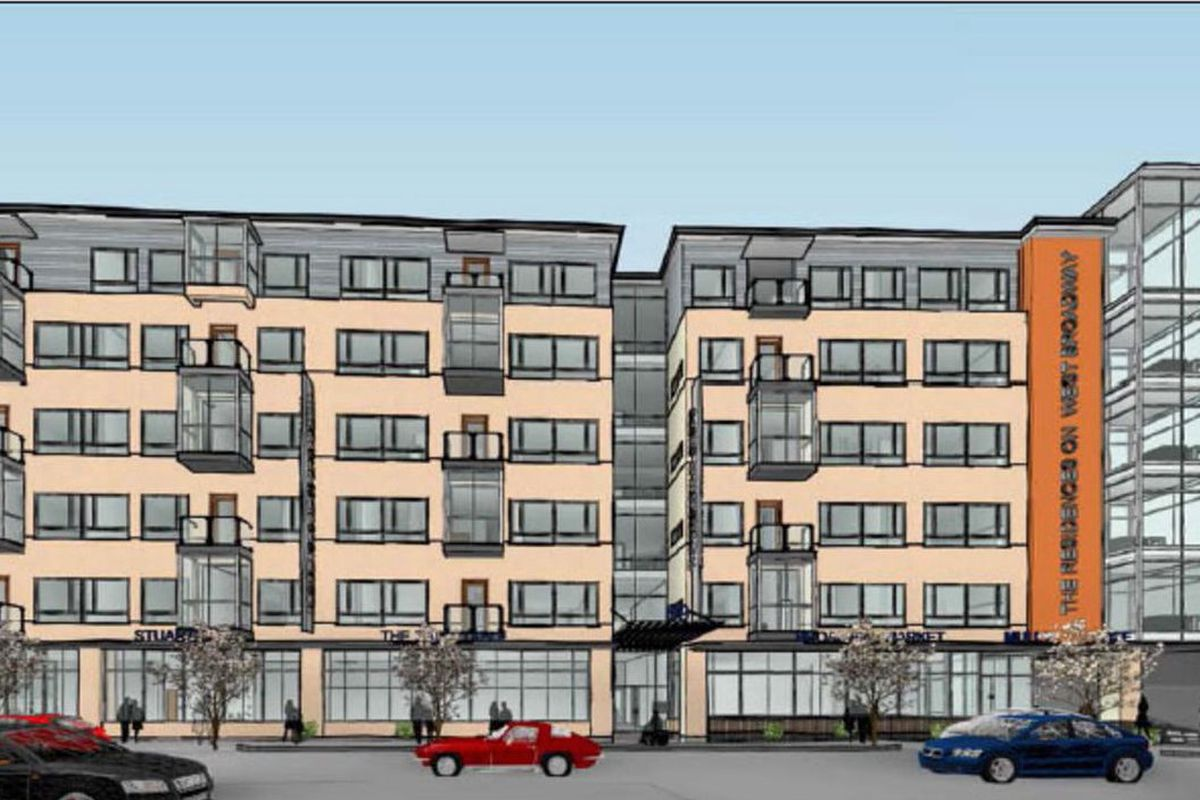 south boston gulf station replacement 65 apartments with 88