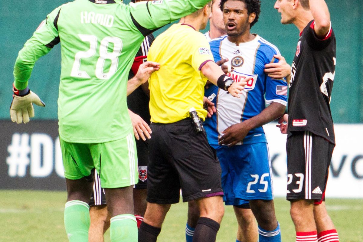 Referee Mark Geiger showed a complete lack of consistency and inability to control either team