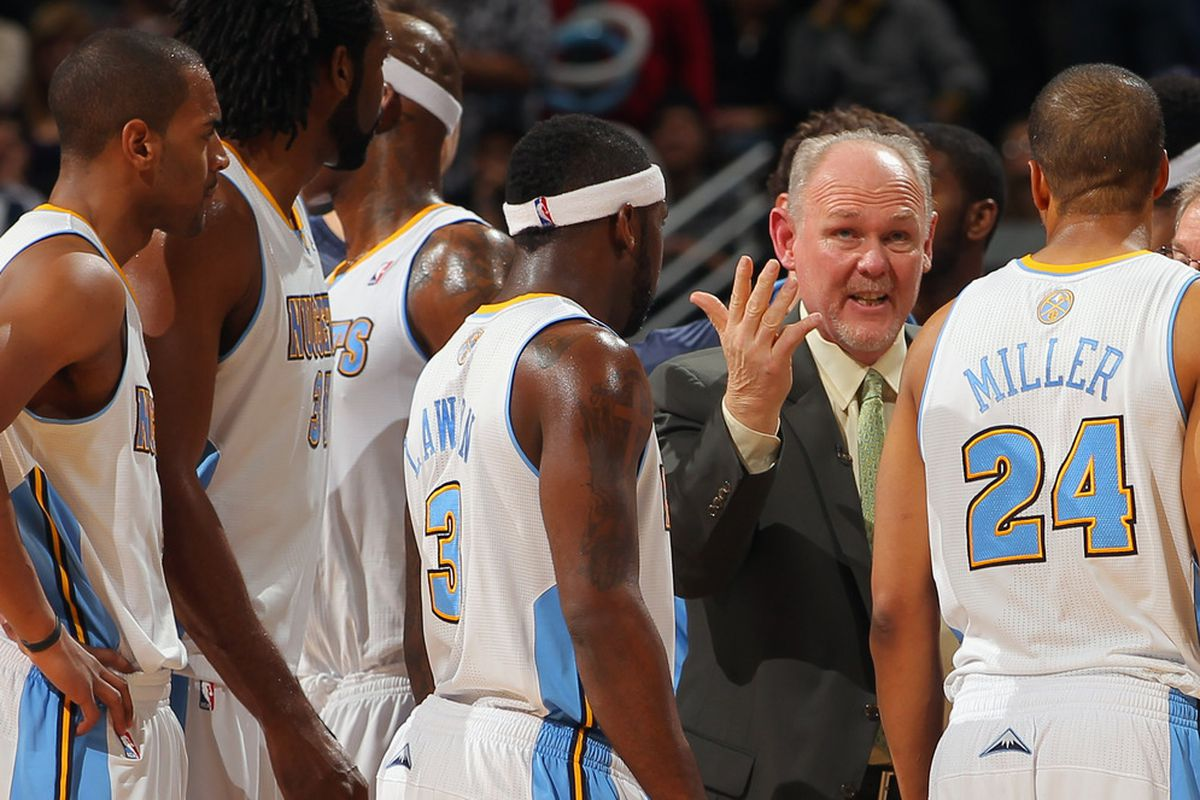Head coach George Karl enjoys the Andre Miller and Ty Lawson combination.