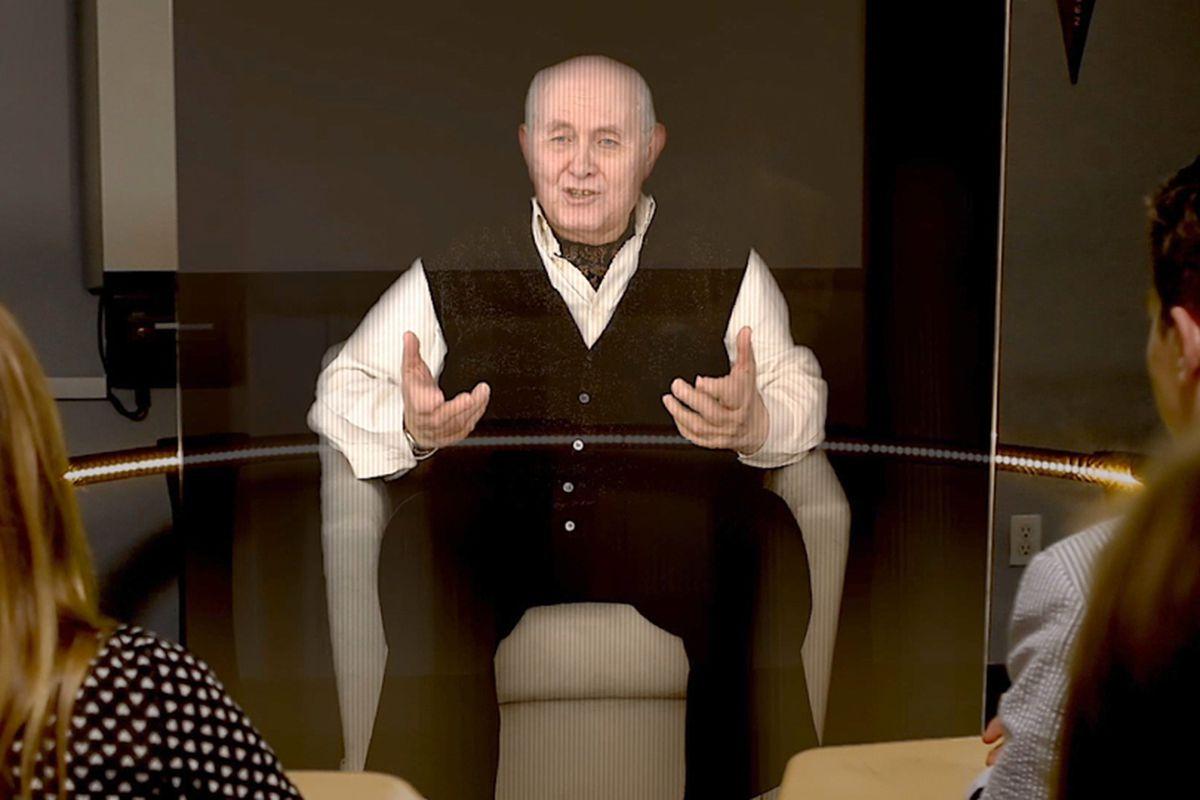 holocaust survivor hologram