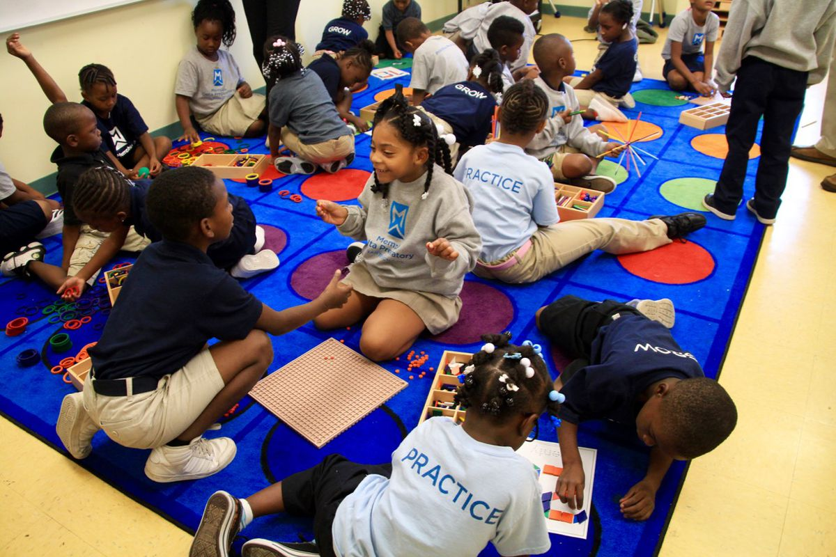 Students learn at Memphis Delta Preparatory, one of more than 100 charter schools in Tennessee.