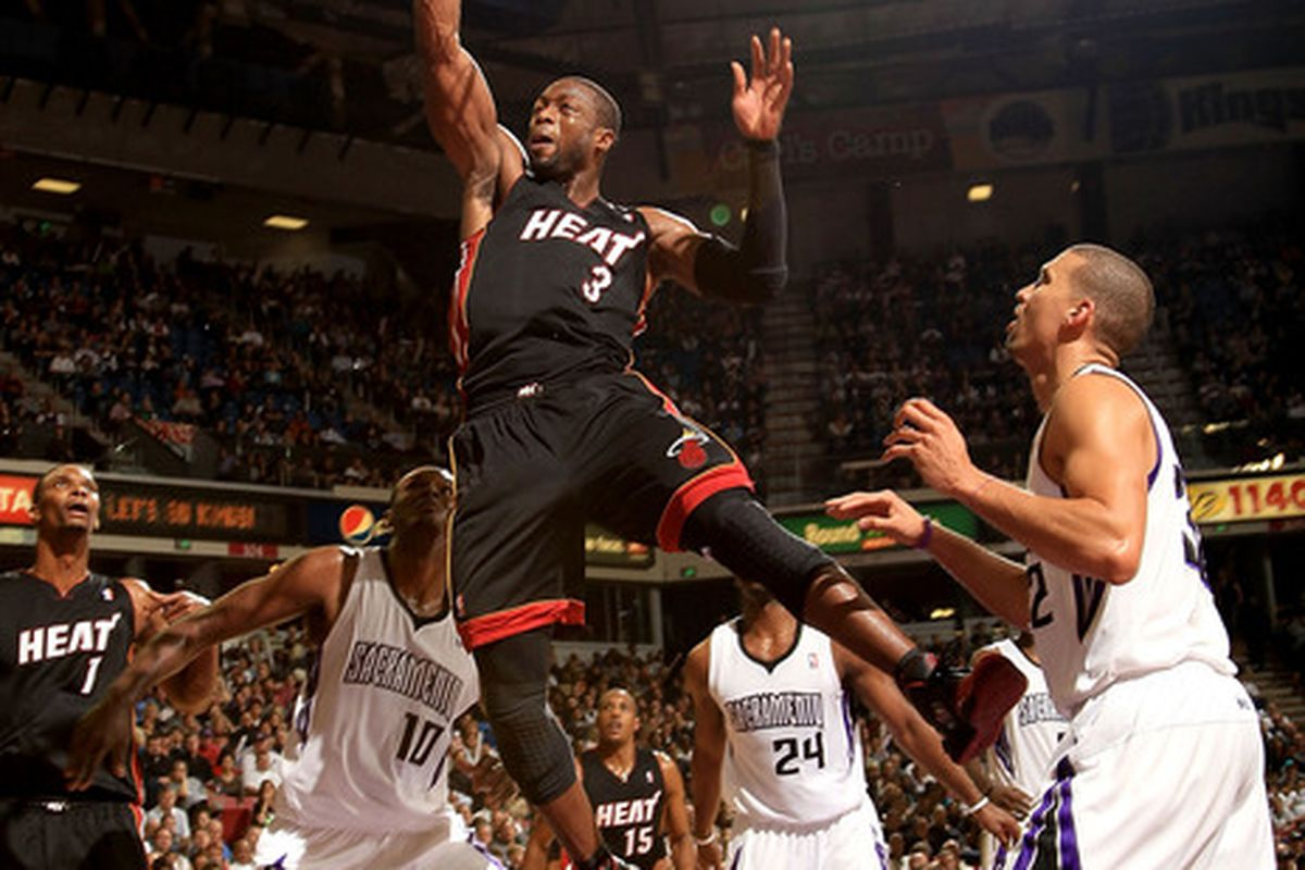 Wade's putback dunk was the exclamation point...