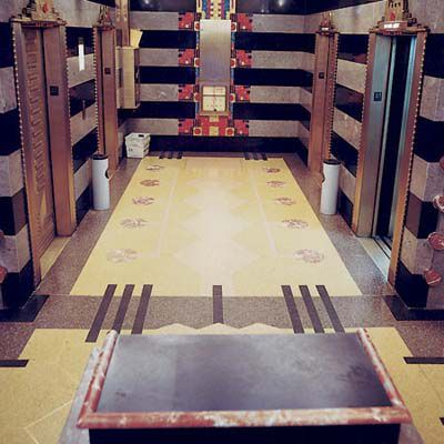 Terrazzo Floor At Film Center In New York City