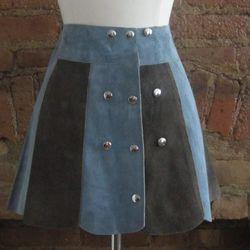 Gilded Gypsies 1960s blue suede mini skirt ($155)