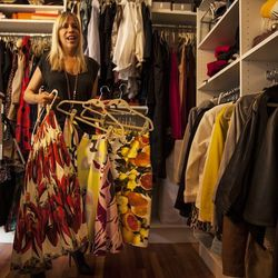 Rachel juggles whimsical prints from Dolce and Gabbana and Stella McCartney.