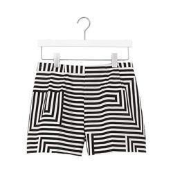 "Kate Spade Saturday Zig Zag Shorts, <a href=""http://www.saturday.com/High-Waisted-Shorts-in-Signature-Zig-Zag/4CMU0023-2,en_US,pd.html"">$85</a>"