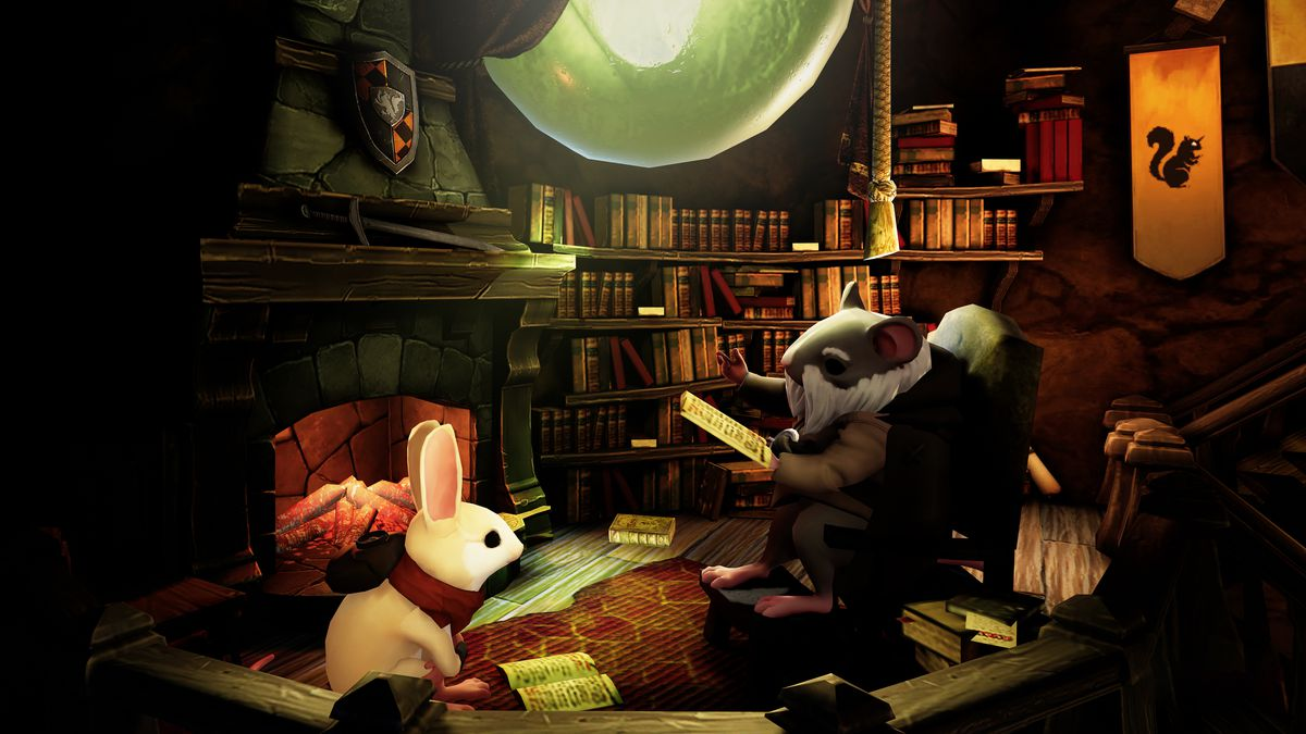 Moss - Quill's uncle reading to her