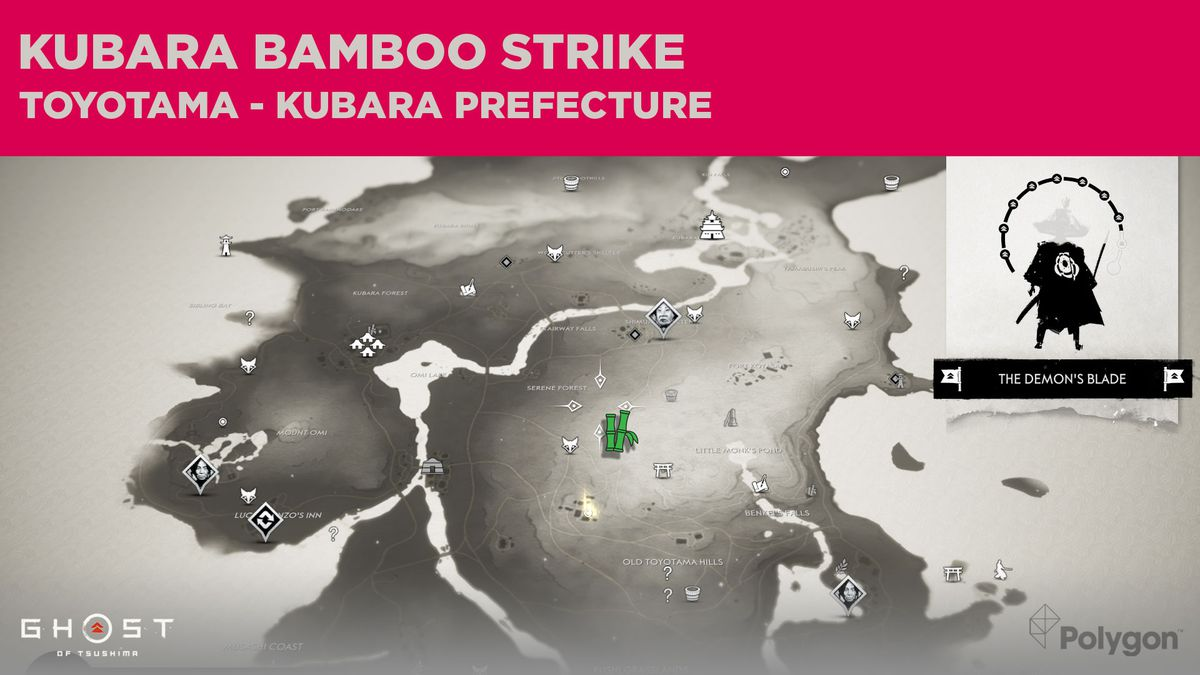 Bamboo Strike location in Kubara in Ghost of Tsushima