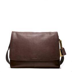 "<a href=""http://www.coach.com/online/handbags/ProductDetailWrapperView?storeId=10551&catalogId=10051&langId=-1&partNumber=70486_mah&cid=D_B_RAC_2958"">Bleecker Legacy Leather Courier Bag</a> in mahogany, $398"