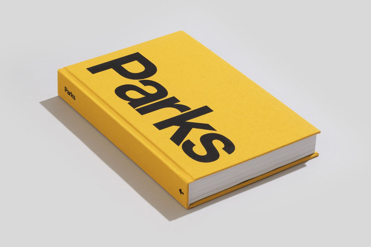 """Yellow cover of book named """"Parks""""."""