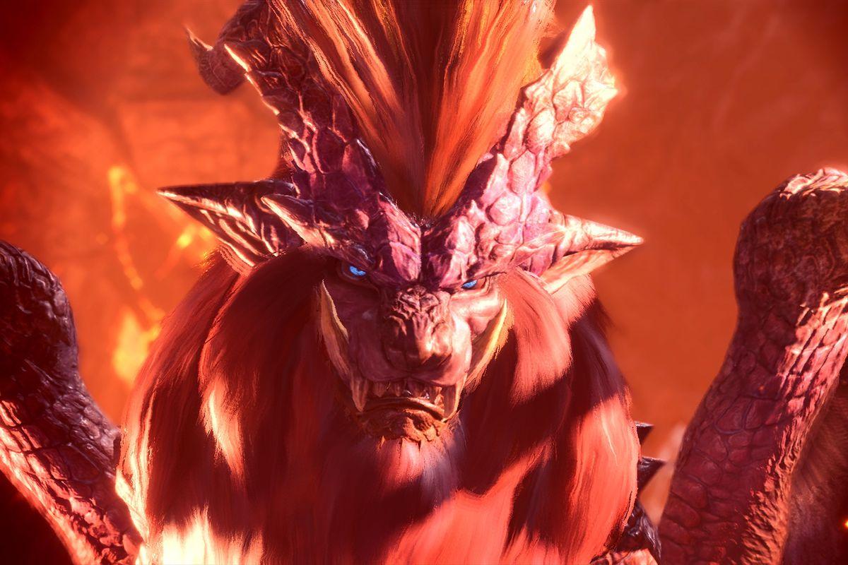 Monster Hunter: World - close-up of monster's face
