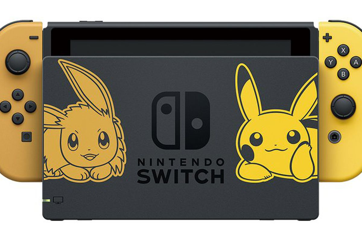 pokémon let s go themed switch turns eevee and pikachu into joy con