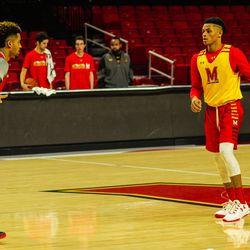 Melo Trimble and Anthony Cowan.
