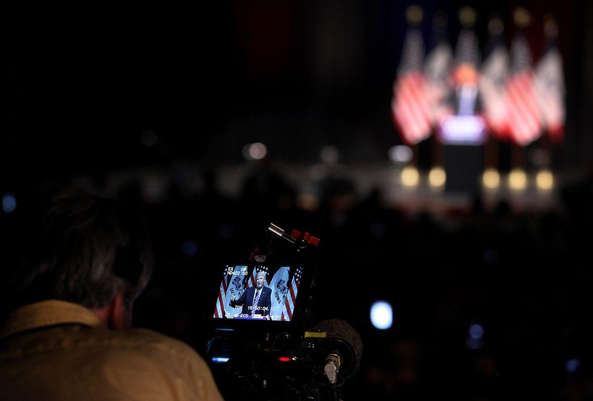 Donald Trump Campaigns In Davenport, Iowa