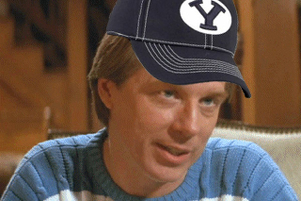 Bronco Mendenhall in his home