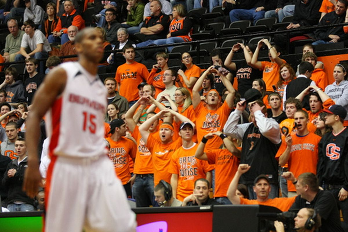 Beaver Nation--and the Beaver Dam-- have a lot of reasons to be excited about the 2009-2010 Oregon State basketball team. (Photo by Ethan Erickson)