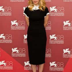 """<span class=""""credit"""">Image via Getty</span>2006: <strong>Presented her first collection</strong>, entitled """"Little Black Dress,"""" which included the famous """"Headmistress"""" dress worn throughout the years by <strong>Madonna</strong>."""