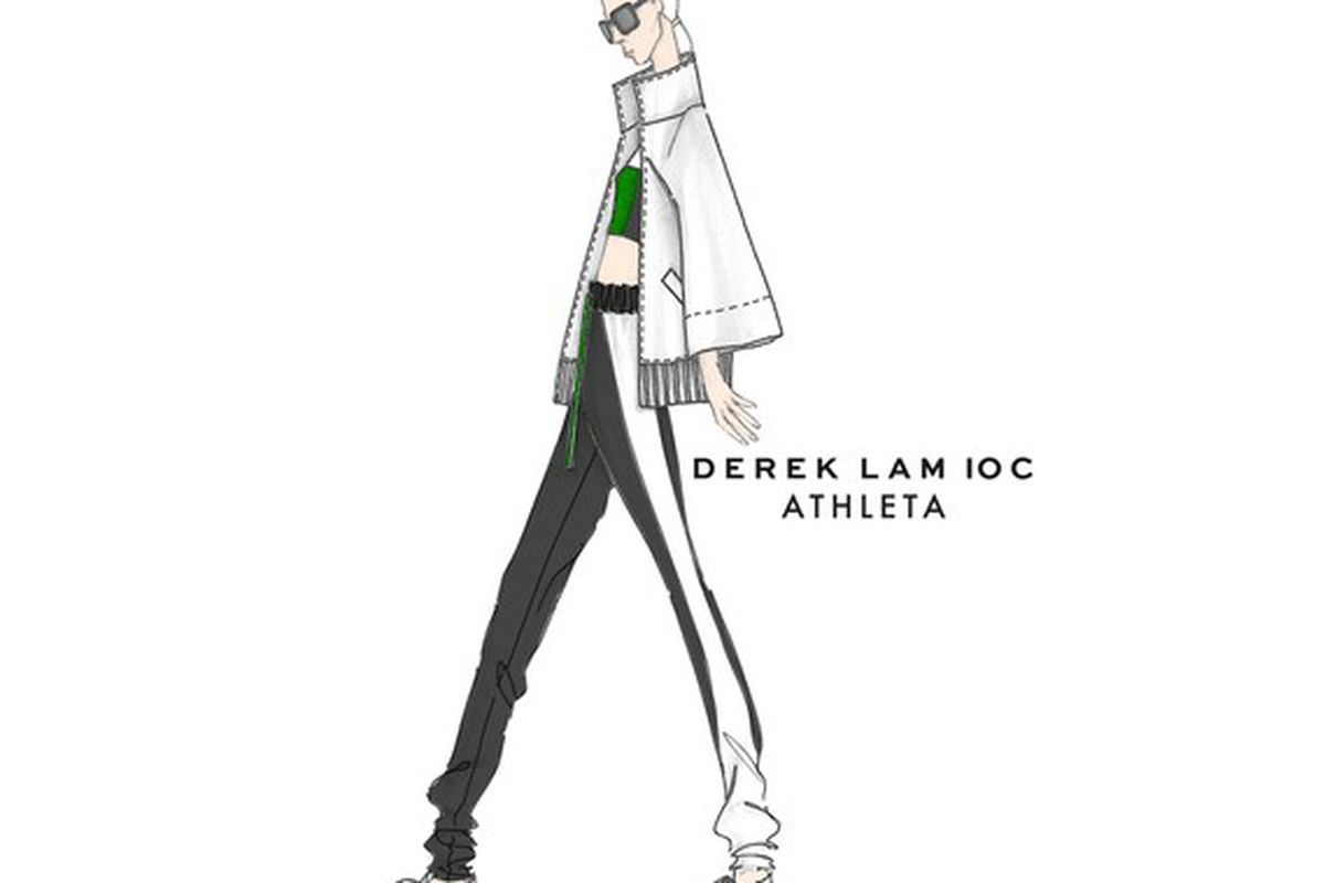 A sketch from the upcoming Athleta/Derek Lam 10 Crosby collection. Courtesy photo