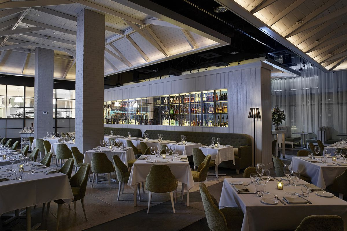 Andiron Steak & Sea's dining room at Downtown Summerlin