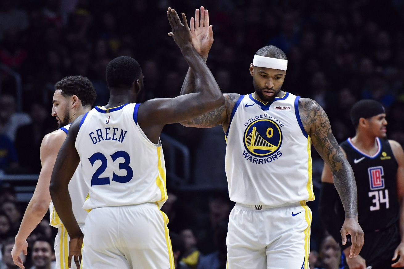 usa today 12021312.0 - DeMarcus Cousins' Warriors debut reminded the other 29 NBA teams why they're doomed