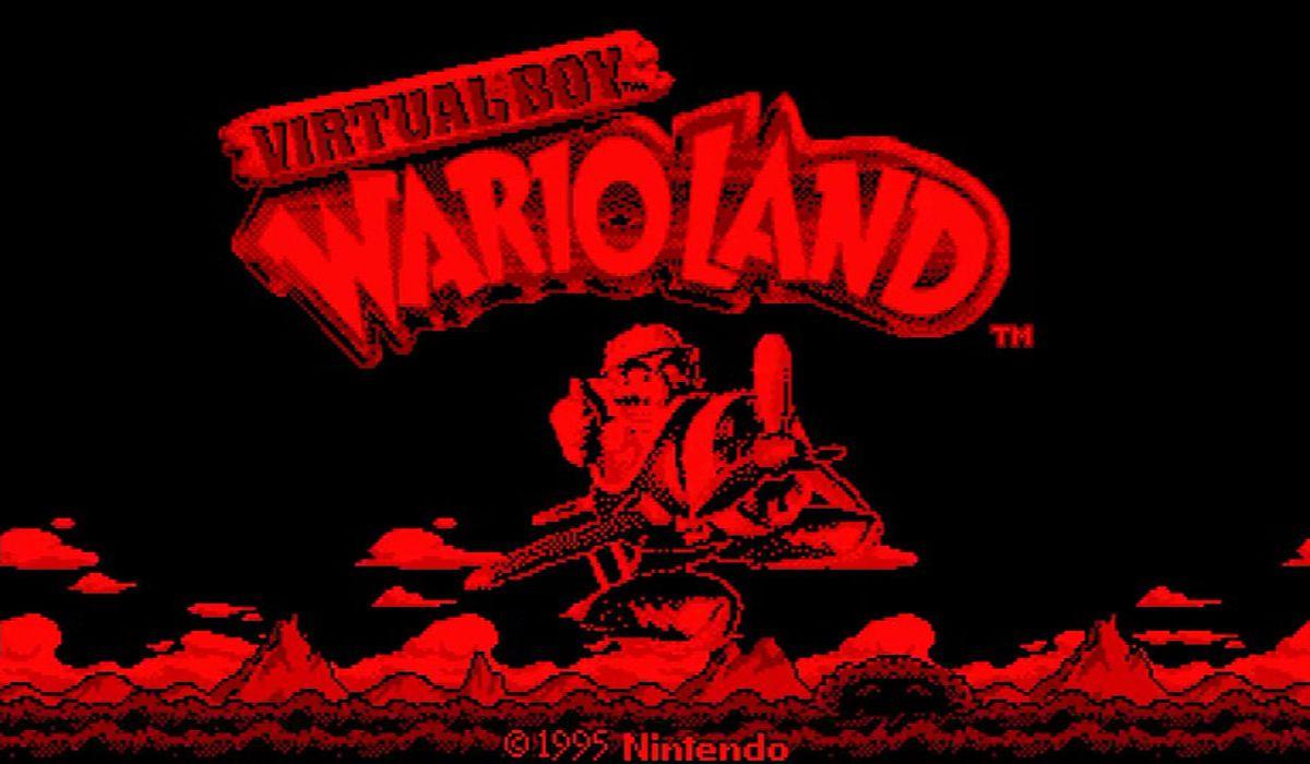 Virtual Boy Wario Land's start screen image