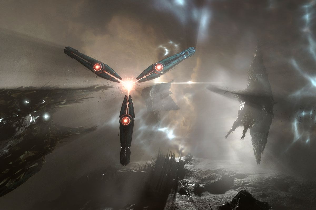 Eve Online: Into the Abyss - three starships