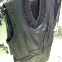 This leather vest is nice