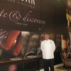 Executive Chef Andrew Morrison outside the future space of Edgar Bar & Kitchen.
