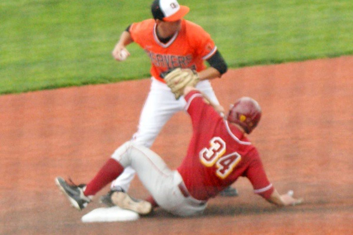 Ryan Dunn looks to turn many double plays like this one in tonight's game at PK Park. (Photo by Andy Wooldridge)