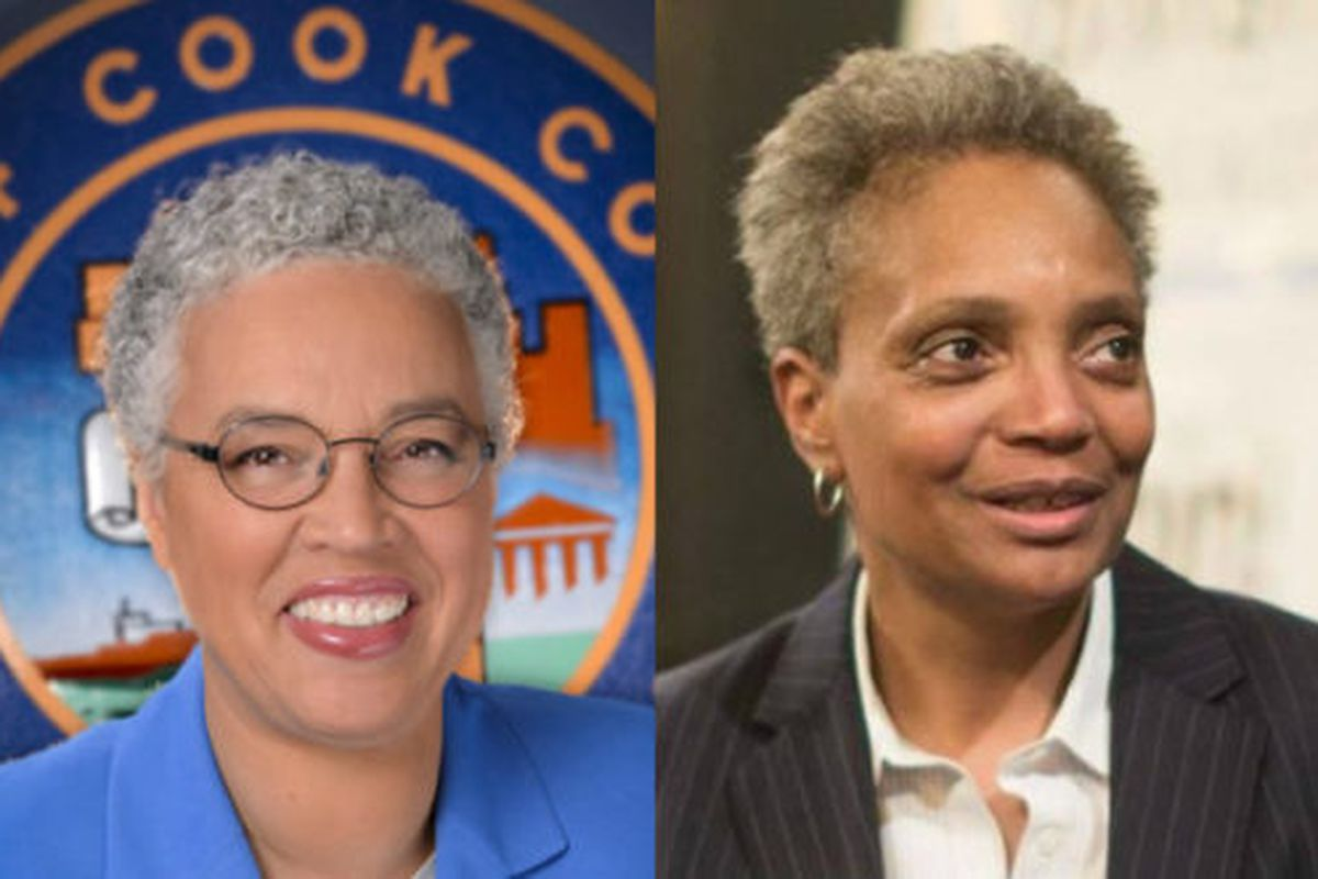 Chicago mayoral candidates Toni Preckwinkle and Lori Lightfoot.
