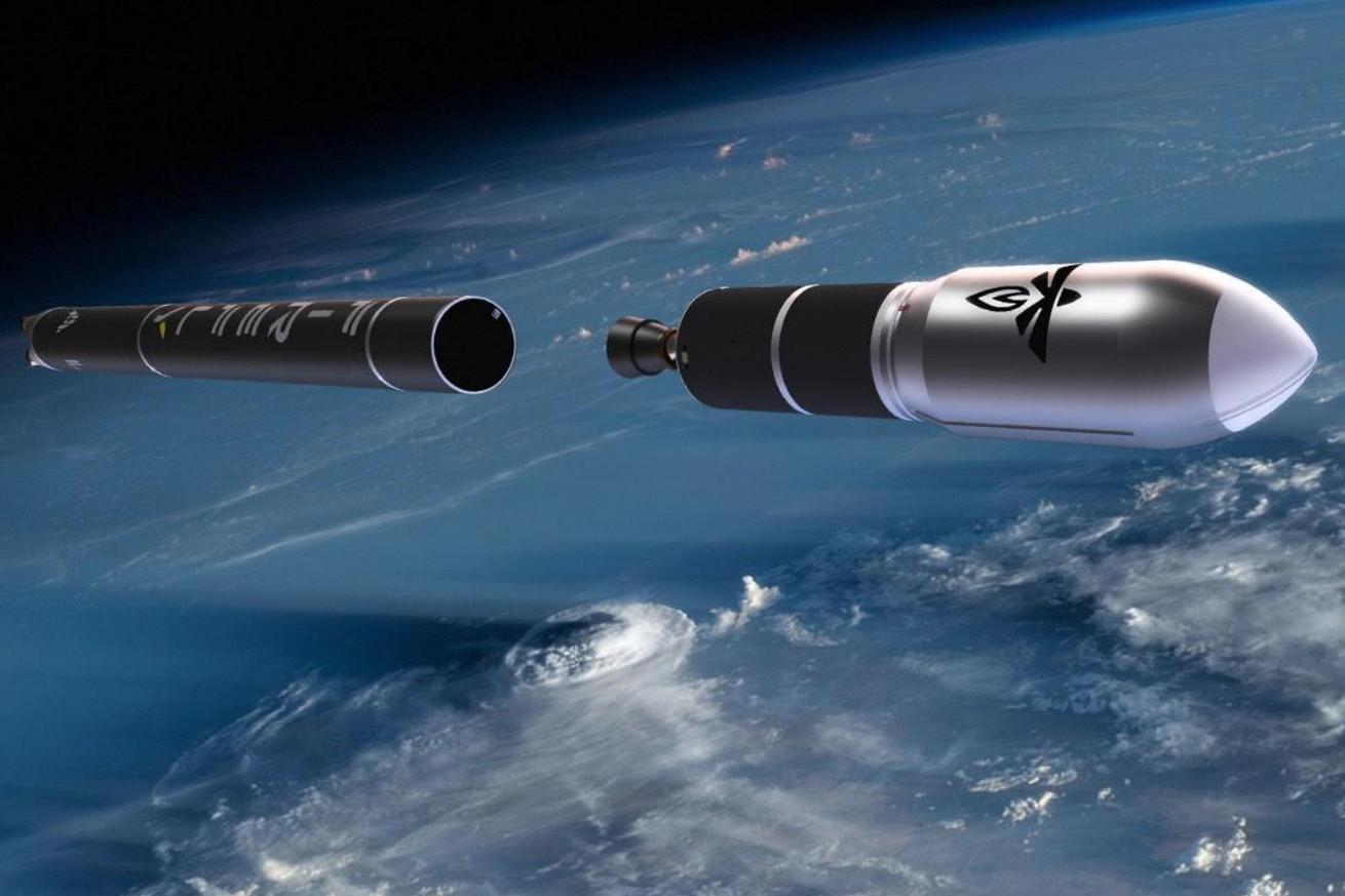 <em>An artistic rendering of Firefly's future Alpha rocket.</em>