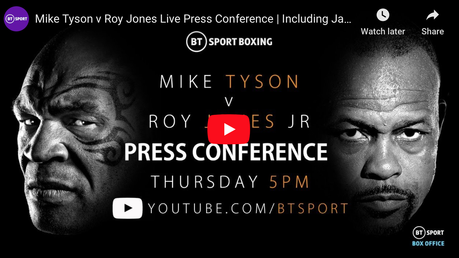 mike tyson vs roy jones jr press conference video also feat jake paul and viddal riley mmamania com mike tyson vs roy jones jr press