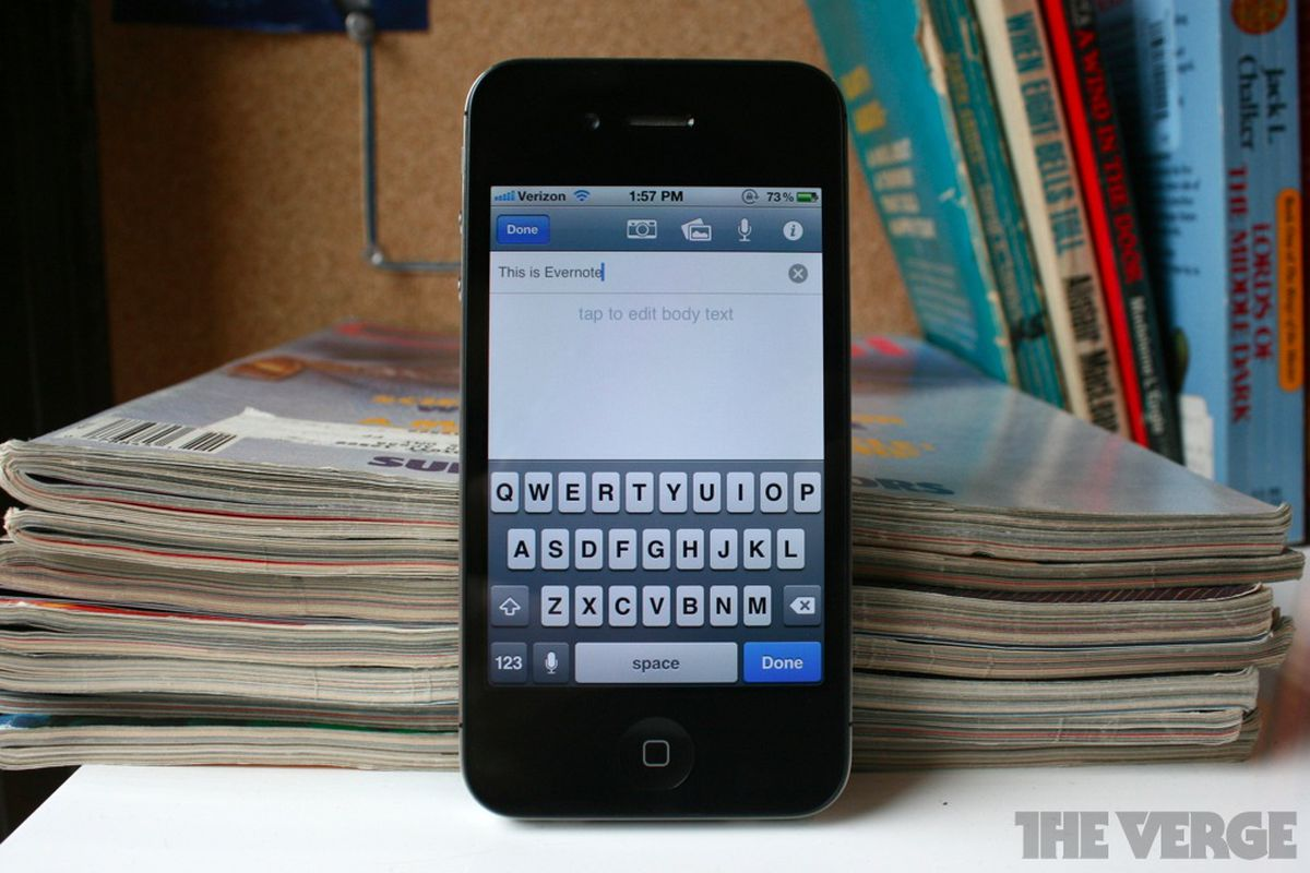 evernote iphone 4.2