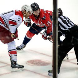 Staal and Backstrom About to Face Off