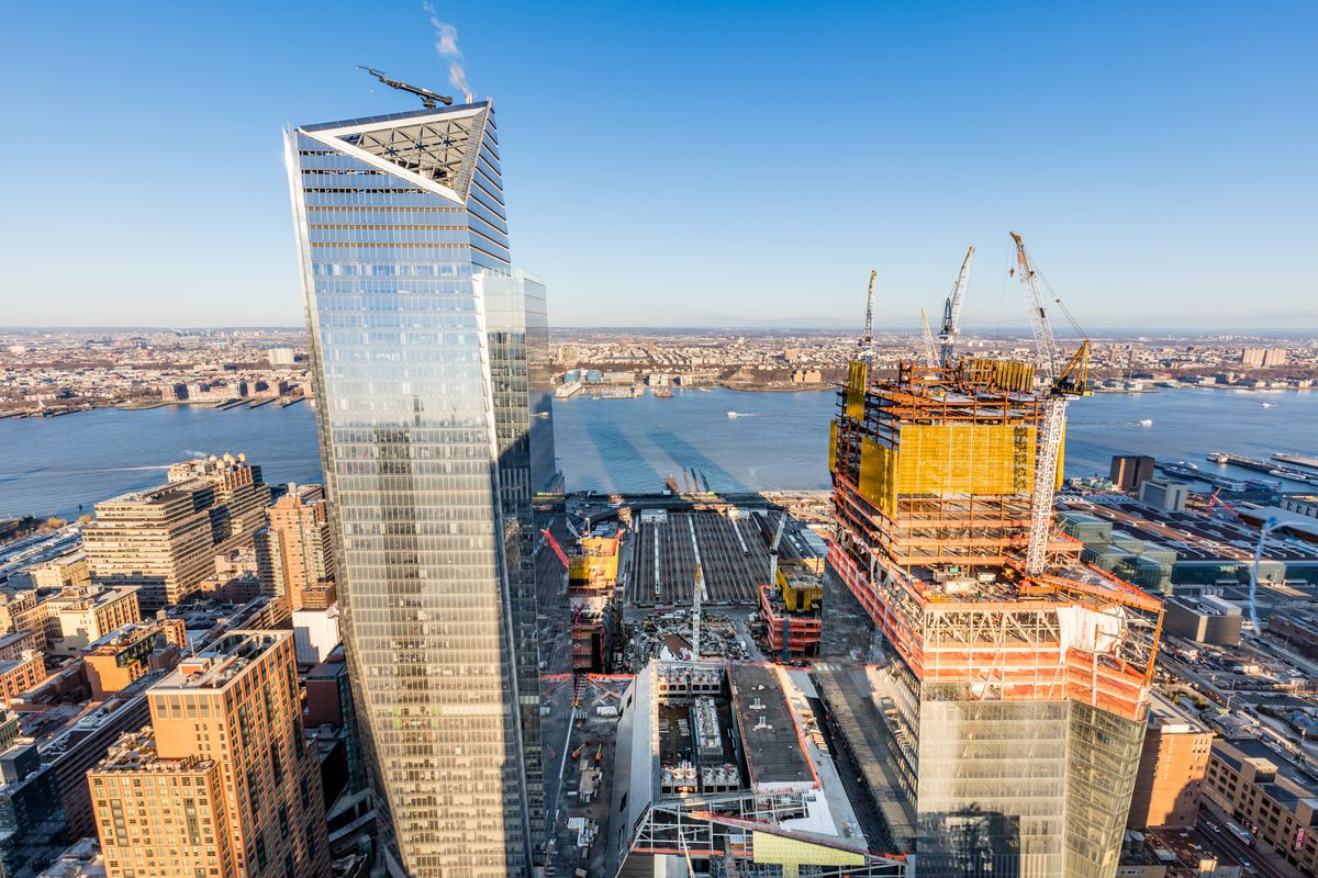 Hudson yards construction update a status check on the for How far is hudson ny from nyc