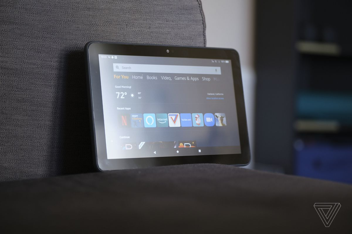 The Fire HD 8 Plus tablet runs Android apps, but the selection isn't as good as on your phone.